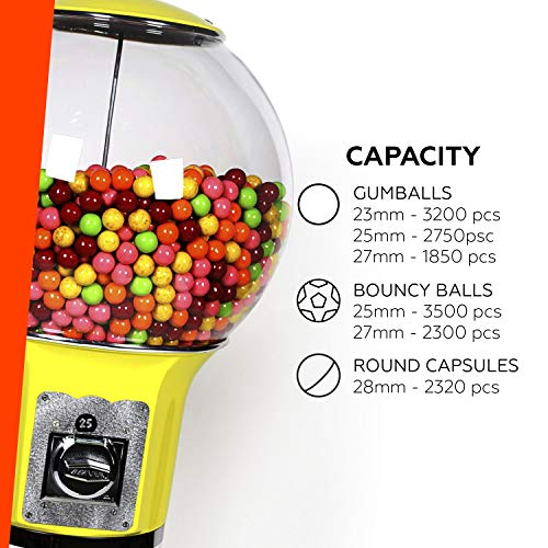 Spiral Gumball Vending Machines - Original Wizard 4'10'' - $0.25 (Red) by Global Gumball (Image #3)