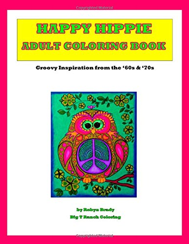 512JVZBsFoL - Happy Hippie Adult Coloring Book: Spiral Bound Single Sided Cardstock