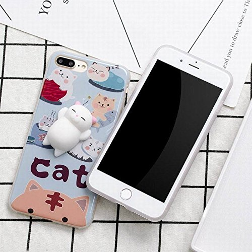 detailed look aee39 34d12 For iPhone 7 Plus Squishy Cat Case Cute 3D Soft Silicone Cat TPU iPhone  Back Case