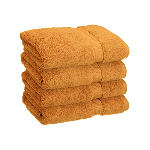 Superior 900 GSM Luxury Bathroom Hand Towels, Made Long-Staple Combed Cotton, Set of 4 Hotel & Spa Quality Hand Towels - Rust, 20