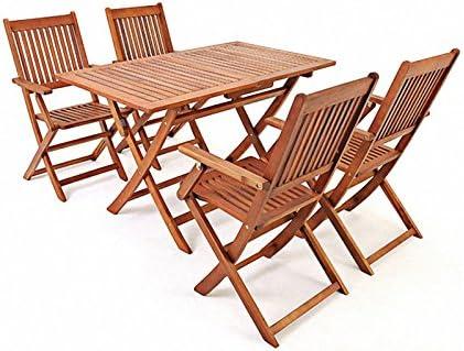 saiwhale Muebles de jardín para Exteriores, 1 Mesa y 4 sillas ...