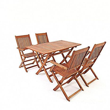saiwhale Muebles de jardín para Exteriores, 1 Mesa y 4 ...