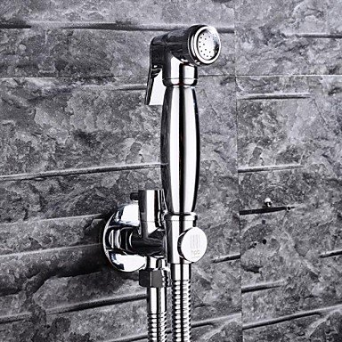 Furesnts Modern home kitchen and bathroom faucet HPB Contemporary Chrome Finish Brass Bidet Faucet ,(Standard G 1/2 universal hose ports) by Dahuuyus