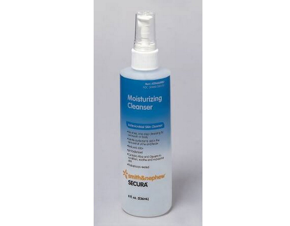 Smith & Nephew Antimicrobial Soap Secura Liquid 8 oz. Pump Bottle Scented (#59430900, Sold Per Case)
