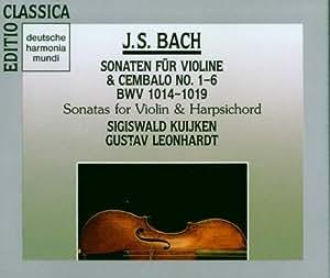 John Sebastian Bach: 6 Sonatas For Violin And Harpischord