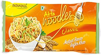 Patanjali Atta Noodles Classic Family Pack, 240g