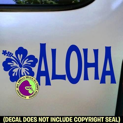 ALOHA Hibiscus Vinyl Decal Sticker ()