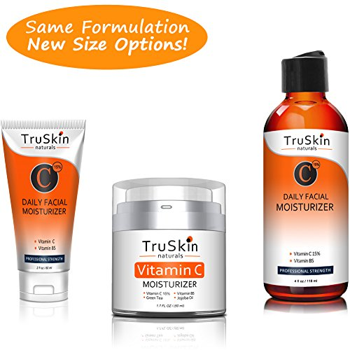 BEST Vitamin C Moisturizer Cream for Face, Neck & Décolleté for Anti-Aging, Wrinkles, Age Spots, Skin Tone, Firming, and Dark Circles. 2oz by TruSkin Naturals (Image #3)'