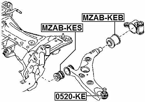 Rear Arm Bushing Front Arm Febest MZAB-KEB Oem KD35-34-300H