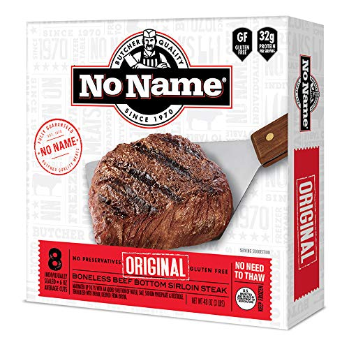 No Name Original Sirloin Steak Gift Package of Steaks | Family Pack of 8 6oz Steaks