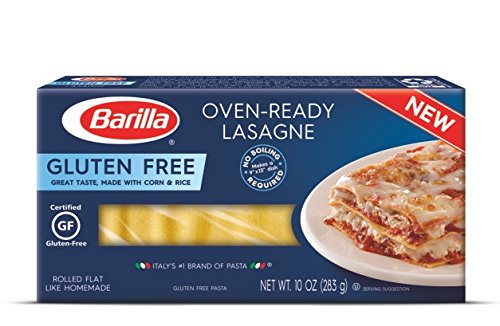 Price comparison product image Barilla Gluten Free Pasta, Lasagne, 10 Ounce (Pack of 12)
