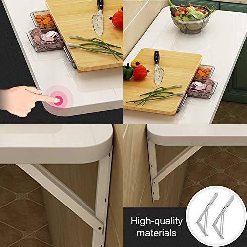 Väggfällbart bord vit matbord skrivbord datorbord arbetsbord – för garage tvättkammare kontor familj (19 storlekar) väggbord sparar plats