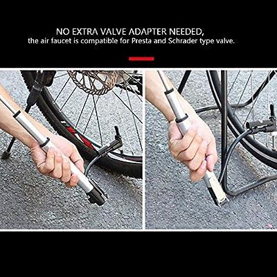Tbest Bomba de Bicicleta Mini Bomba para Bicicletas Portátil de ...
