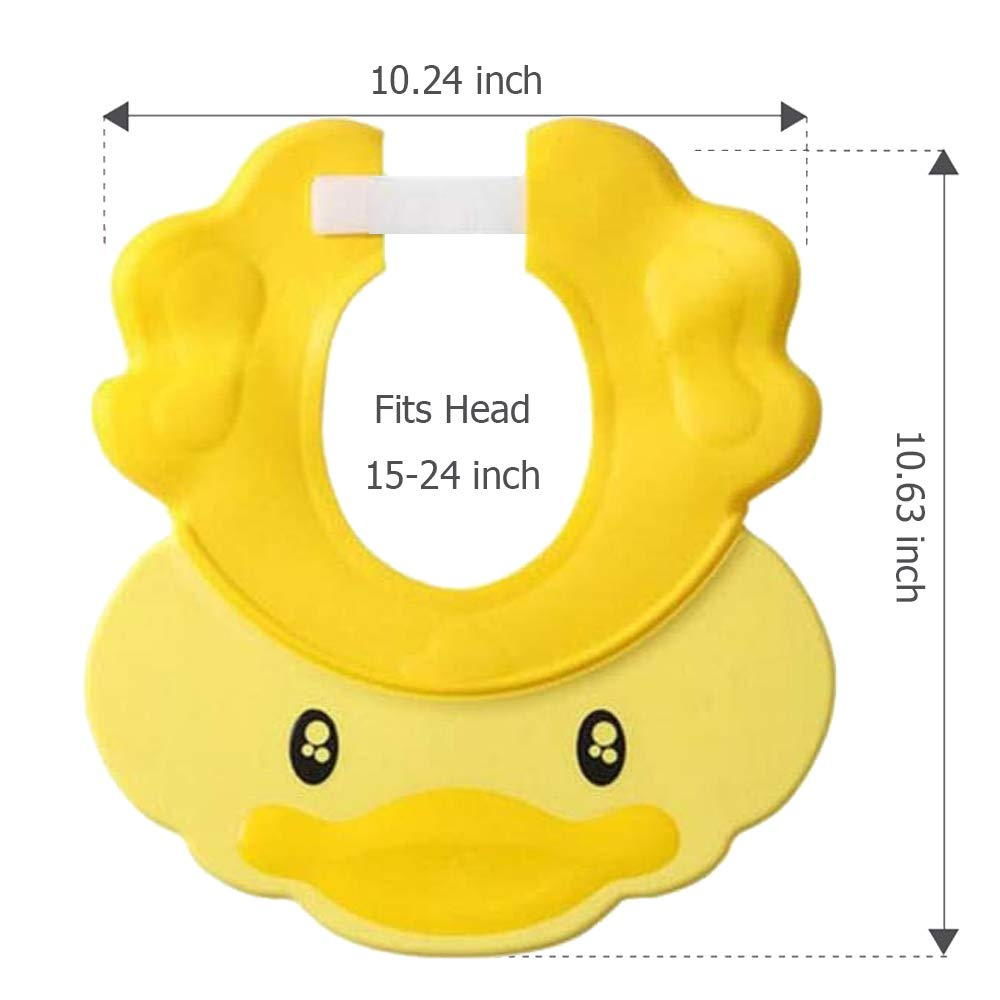 Safety Bathroom Safety Girls Baby Shower Cap Visor with Ear ...