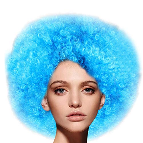 Adult Jumbo Afro Wig Disco Theme Clown Wig Cosplay Wig Fluffy Wig for Men Women Cosplay Anime Party Christmas Halloween Fancy Funny Wigs Colored (G) ()