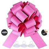 Big Pink car Bow Ribbon Pull Bows New car Bow