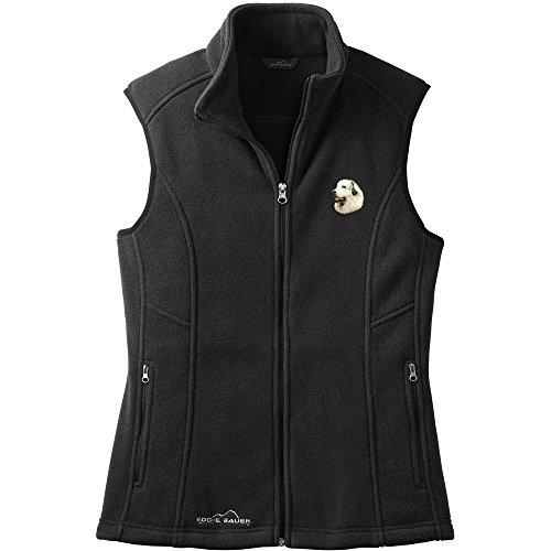 Cherrybrook Dog Breed Embroidered Womens Eddie Bauer Fleece Vest - X-Large - Black - Great Pyrenees