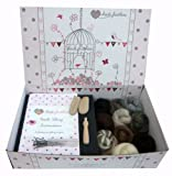 wet wool felting kits - Heidifeathers Boxed Wet Felting Kit - 10 Natural Wools