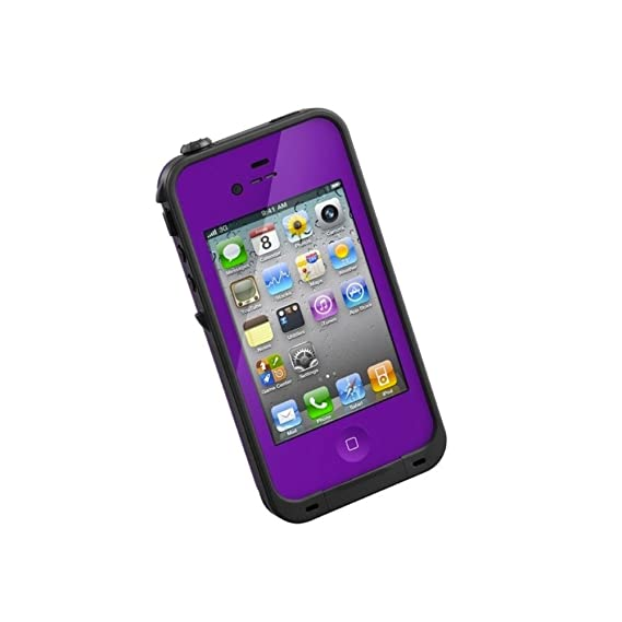 info for 17c45 ebecd LifeProof FRĒ iPhone 4/4s Waterproof Case - Retail Packaging - PURPLE/BLACK  (Discontinued by Manufacturer)
