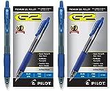 Pilot G2 Retractable Premium Gel Ink Roller Ball Pens, Fine Pt, 24 Pack, Blue