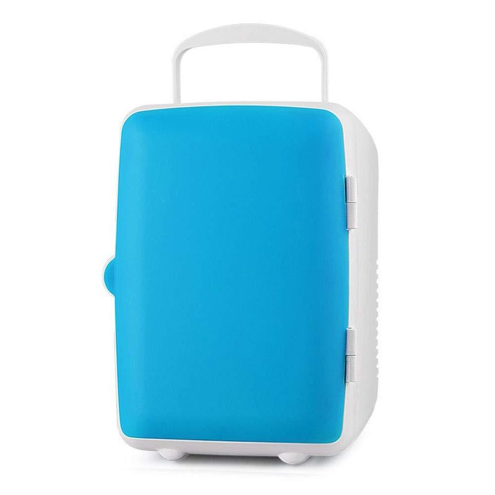 CHUXIANGJIAN 4 Litre Mini Fridge Cooler and Warmer,Red,White,Blue (Color : Blue)