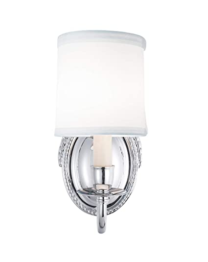 Amazon.com: Norwell Lighting 6610-CH-WS Victoria Sconce ...