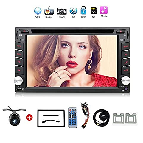 Navigation Seller - 2 Din Radio Car Dvd Player Gps Navigation Tape Recorder Autoradio Cassette Player For Car Radio Steering-wheel Car Multimedia With Free Backup (Backup Camera Multi Input)