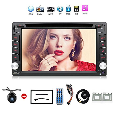 Navigation Seller - 2 Din Radio Car Dvd Player Gps Navigation Tape Recorder Autoradio Cassette Player For Car Radio Steering-wheel Car Multimedia With Free Backup Camera by Navigation Seller