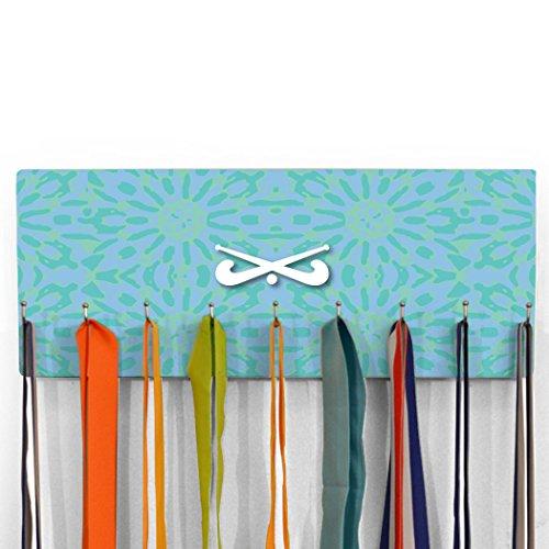 ChalkTalkSPORTS Floral Tie Dye with Field Hockey Sticks Hook Board Field Hockey   Seafoam