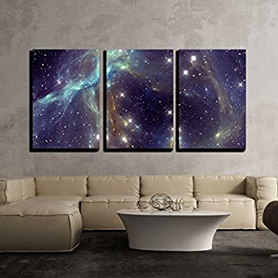 Made to Last, Handsome Picture, Colorful Space Star Nebula x3 Panels