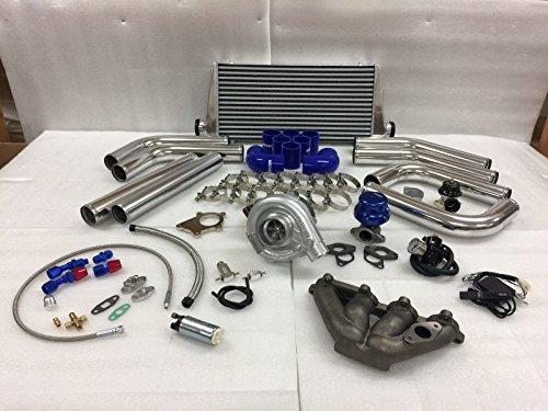 Crx Turbo Kits - Civic D Series D16 D15 SOHC T3T4 .63 Turbo Kit Intercooler BOV Manifold