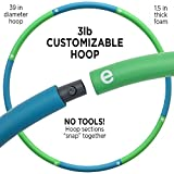 Empower Hula Hoop for Women Adjustable Size Fitness Hoop, Dance Hoop, Cardio, Fat Burning, 3-in-1 Hoola Hoop