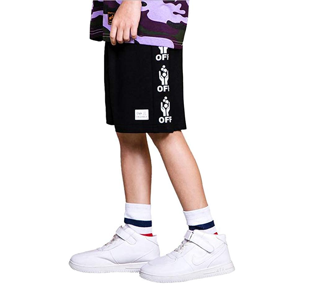 Koupa Unisex Boys and Girls Cotton Athletic Shorts Yellow 5-6Years