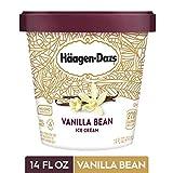 HAAGEN-DAZS Ice Cream, Vanilla Bean, 14 Fl. Oz. Cup | No GMO Ingredients | No rBST | Gluten Free