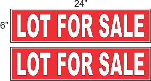 Discount 2 - 6x24 LOT FOR SALE Real Estate Rider Sign Red REVERSE OUT supplier