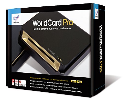 Penpower WorldCard Pro Business Card Reader and Scanner v8