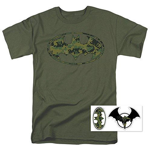 Batman Marine Camo DC Comics T Shirt (Large) ()