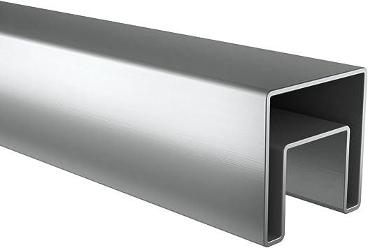 Cristal listones Tubo Acero Inoxidable cuadrado 40 x 40 2,5 m V2 A Cristal barandilla Incluye goma V2 A: Amazon.es: Bricolaje y herramientas
