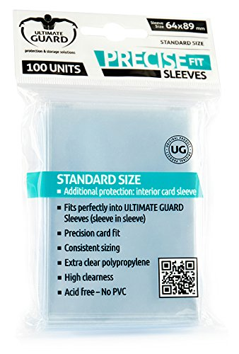 3 opinioni per Ultimate Guard Precise-Fit Sleeves Standard Size Transparent (100) Ultimate