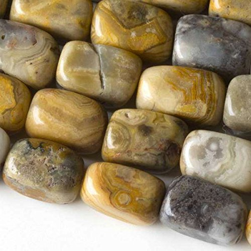 Cherry Blossom Beads Crazy Lace Agate Beads 10x14mm Smooth Nugget - 8 Inch Strand ()