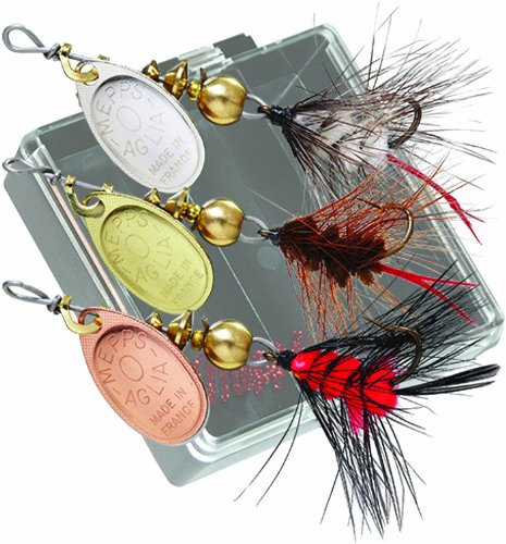 - Mepps Wooly Worm Trout-Pack of 3 (Black)