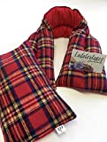Flax seed heating Pad, Neck wrap, Microwavable shoulder/neck wrap extra long heating pad, Handmade, Holiday Plaid
