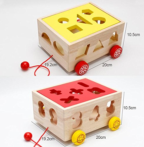 Baby Toddler Kids Gifts Creative Wooden Number Sorter Geometric Sorting Car Educational Shape Color Recognition Toy for Kids