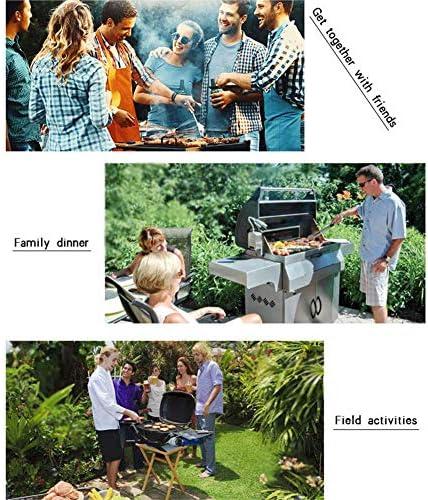 RONGJJ Tailgating 5pcs BBQ Outils, Accessoires pour Barbecue avec Sac de Transport, pour Barbecue Extérieur/Camping/Jardin Cadeau Noël Jardin