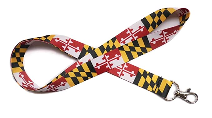 53a4b143434bb Amazon.com: Maryland Flag Lanyard: Clothing