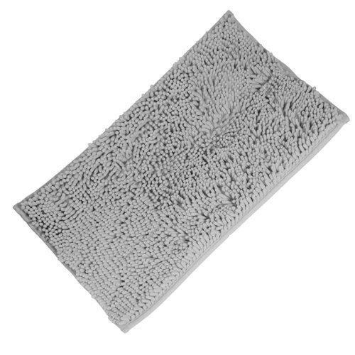 Fendii - Tappeto arruffato morbido e lavabile, tappetino bagno anti scivolo assorbente, tappeto per il bagno, tappeti doccia, tappeti arruffati, colore azzurro