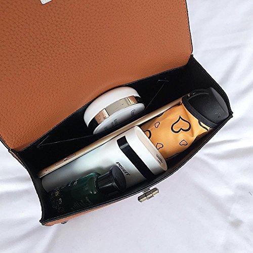 main diagonale sac à Aoligei petit verrouillage de fille Fashion unique sac à Fang Rivet Baoquan A bandoulière bandoulière boucle fwxO4