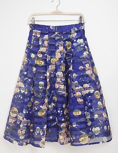 GSP-WeiMeiJia Women's Printing Graceful Organza Bubble Skirt