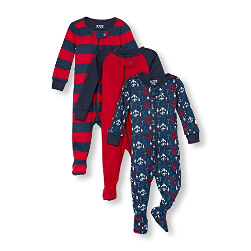 The Children's Place Baby Boys 3-Pack Stretchies, Crimson, 6-9MONTHS