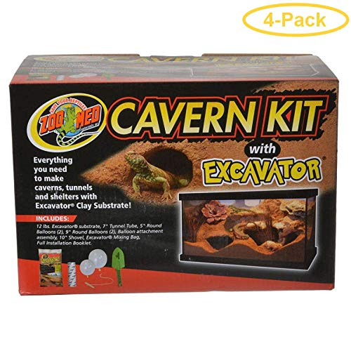 Zoo Med Cavern Kit with Excavator Complete Excavation Kit - Pack of 4